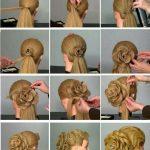 DIY Erstaunliche Rosen Blumen Brötchen Frisur für Parteien