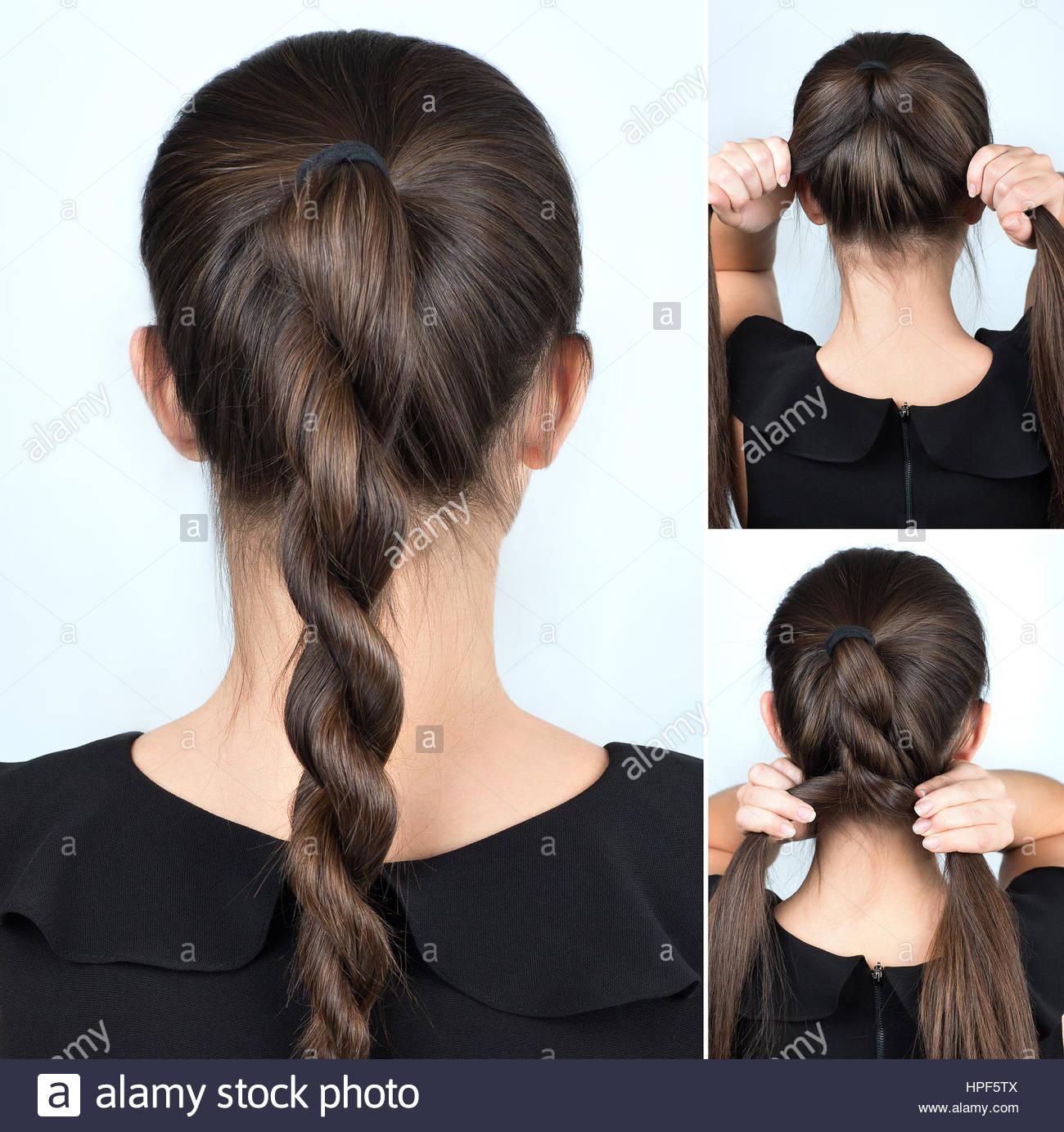 Einfache Frisur Gedrehten Zopf Tutorial Frisur Fur Lange Haare