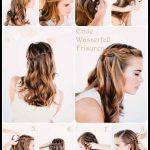 Frisur Zopf Wasserfall Mit Offenem Haar Frisur Tutorial Für Lange Haare Frisur Für Party Tu (2)