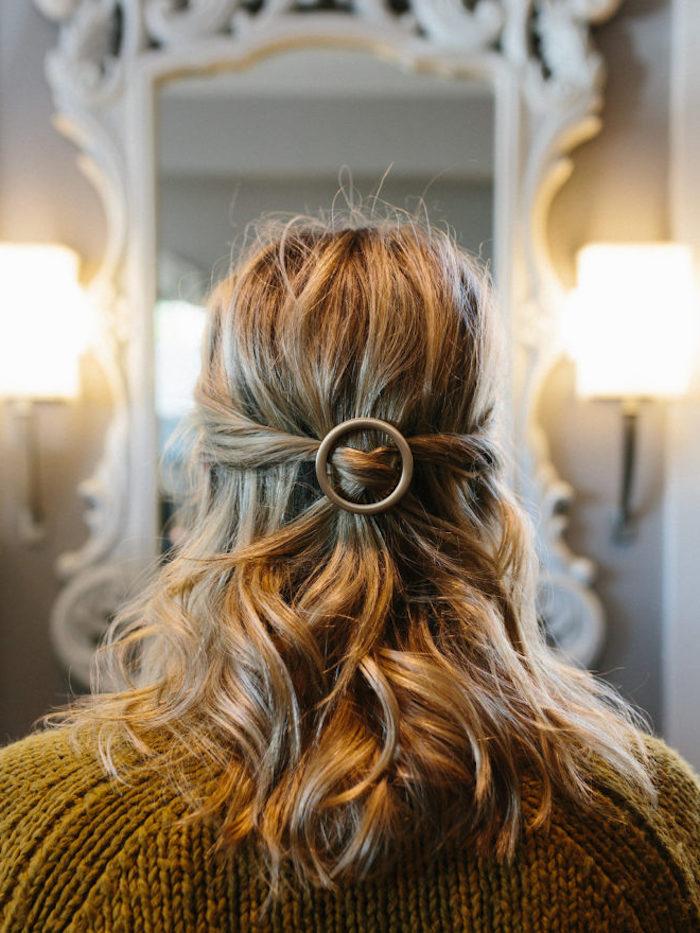 Naturlocken Frisuren Fur Mittellange Haare Ring Halboffen