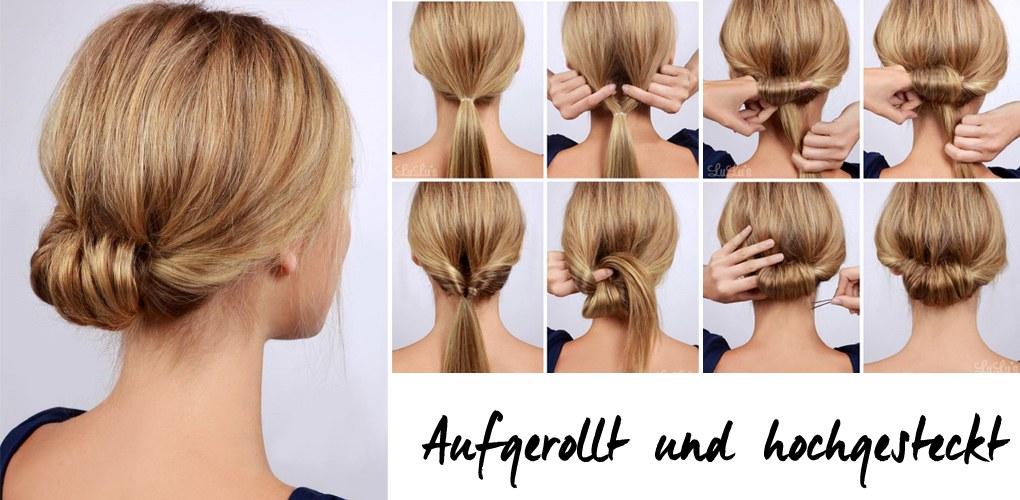 Schnelle Festfrisuren Aufgerollt Und Hochgesteckt Frisurenkatalog