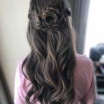 blume aus zopf flechten halboffene haare frisur