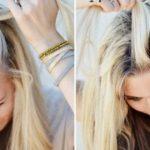 haare flechten mittellange blonde haare schöne frisur mit zopf