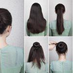 Einfache, schnelle Frisuren mit Duttkissen