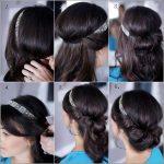 frisuren zum selber machen mit anleitung Dutt Frisur haarband anleitung bilder Frisuren