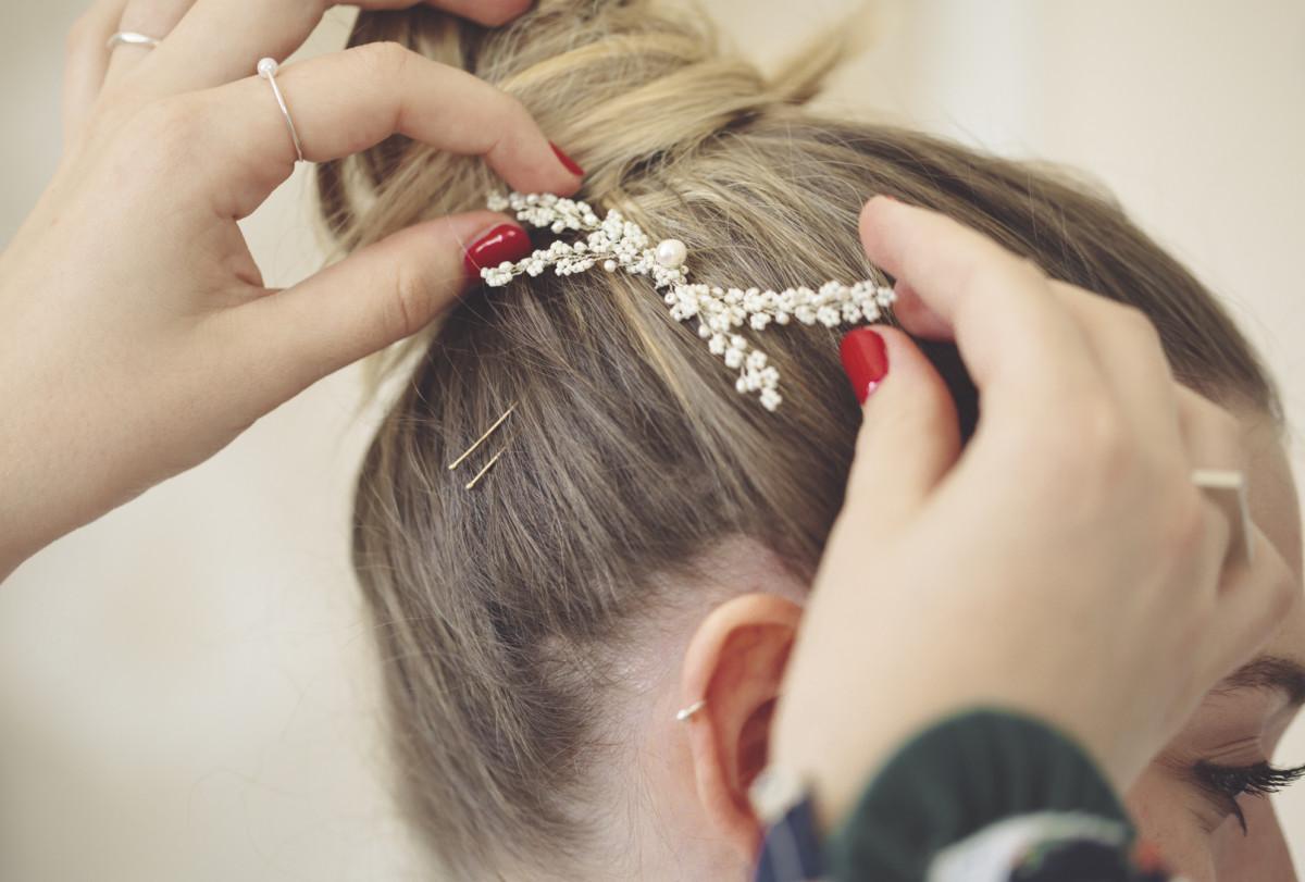 Hochzeit Haarschmuck Klammer Blume