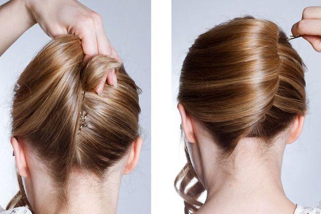 Voluminöser Dutt bei dünnen und feinen Haaren